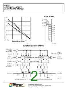 DMOS POWER DRIVER IC A6B595 8-BIT SERIAL-INPUT A6B595KLW