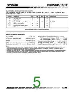 浏览型号XRD5408AIP的Datasheet PDF文件第5页