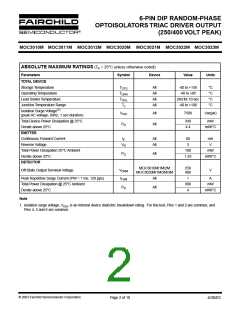 浏览型号MOC3011SR2VM的Datasheet PDF文件第2页