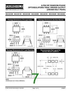 浏览型号MOC3011SR2VM的Datasheet PDF文件第7页