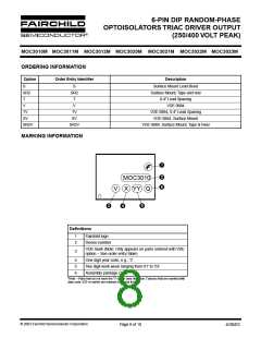 浏览型号MOC3011SR2VM的Datasheet PDF文件第8页