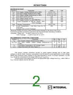 浏览型号IN74HCT240ADW的Datasheet PDF文件第2页