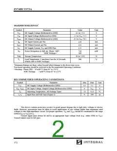 浏览型号IN74HCT373ADW的Datasheet PDF文件第2页
