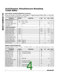 浏览型号MAX116EAX的Datasheet PDF文件第4页