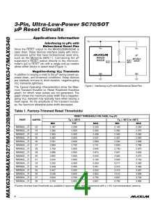 浏览型号MAX6348XR40-T的Datasheet PDF文件第4页