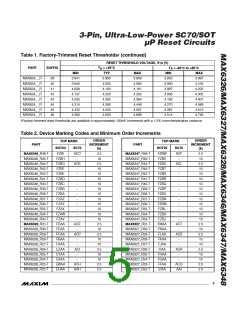 浏览型号MAX6348XR40-T的Datasheet PDF文件第5页