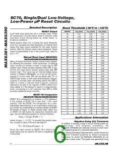 浏览型号MAX6385XS44D3-T的Datasheet PDF文件第6页