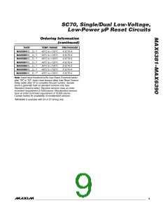 浏览型号MAX6385XS44D3-T的Datasheet PDF文件第9页