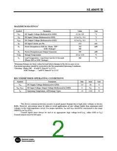 浏览型号SL4069UBD的Datasheet PDF文件第2页