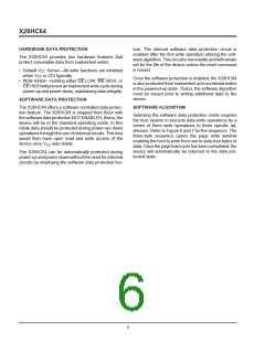 浏览型号X28HC64DI-70的Datasheet PDF文件第6页