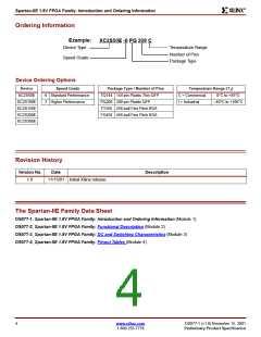 浏览型号XC2S50E-6FG456I的Datasheet PDF文件第4页