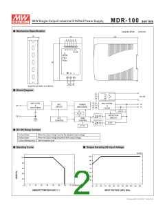 浏览型号MDR-100-24的Datasheet PDF文件第2页
