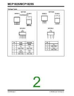 浏览型号MCP1825-5002E/ET的Datasheet PDF文件第2页
