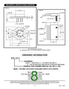 浏览型号MSK184的Datasheet PDF文件第8页