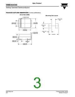 浏览型号SMB30A300HE3/5B的Datasheet PDF文件第3页