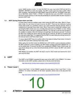浏览型号AT89S51-24AU的Datasheet PDF文件第10页