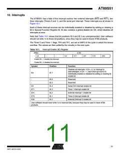 浏览型号AT89S51-24AU的Datasheet PDF文件第11页