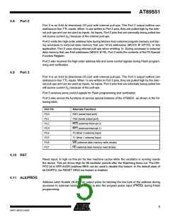 浏览型号AT89S51-24AU的Datasheet PDF文件第5页