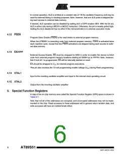 浏览型号AT89S51-24AU的Datasheet PDF文件第6页