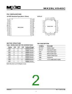 浏览型号MX29LV040CQC-55Q的Datasheet PDF文件第2页