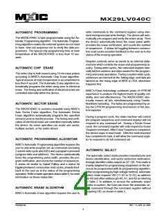浏览型号MX29LV040CQC-55Q的Datasheet PDF文件第4页