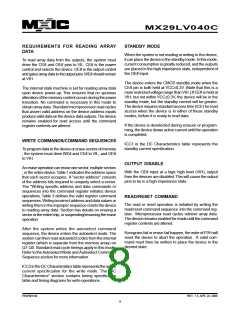 浏览型号MX29LV040CQC-55Q的Datasheet PDF文件第8页