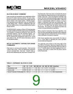 浏览型号MX29LV040CQC-55Q的Datasheet PDF文件第9页