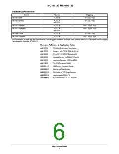 浏览型号MC10E122FNG的Datasheet PDF文件第6页