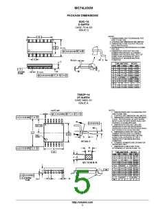 浏览型号MC74LVX08M的Datasheet PDF文件第5页