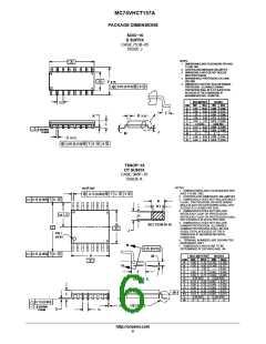 浏览型号MC74VHCT157AMG的Datasheet PDF文件第6页
