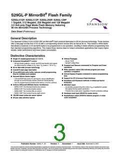 浏览型号S29GL128P90FFI012的Datasheet PDF文件第3页