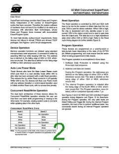 浏览型号SST36VF3204-70-4E-B3KE的Datasheet PDF文件第2页