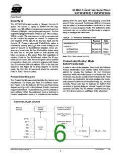 浏览型号SST36VF3204-70-4E-B3KE的Datasheet PDF文件第6页