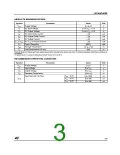浏览型号M74HC4028B1R的Datasheet PDF文件第3页