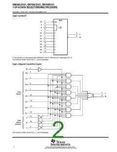 浏览型号SN74ALS151NSRE4的Datasheet PDF文件第2页