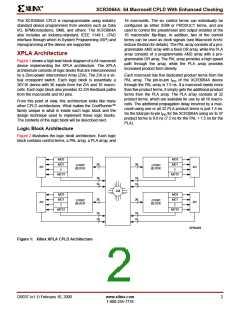 浏览型号XCR3064A-12VQ100C的Datasheet PDF文件第2页