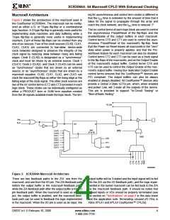 浏览型号XCR3064A-12VQ100C的Datasheet PDF文件第4页