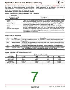 浏览型号XCR3064A-12VQ100C的Datasheet PDF文件第7页