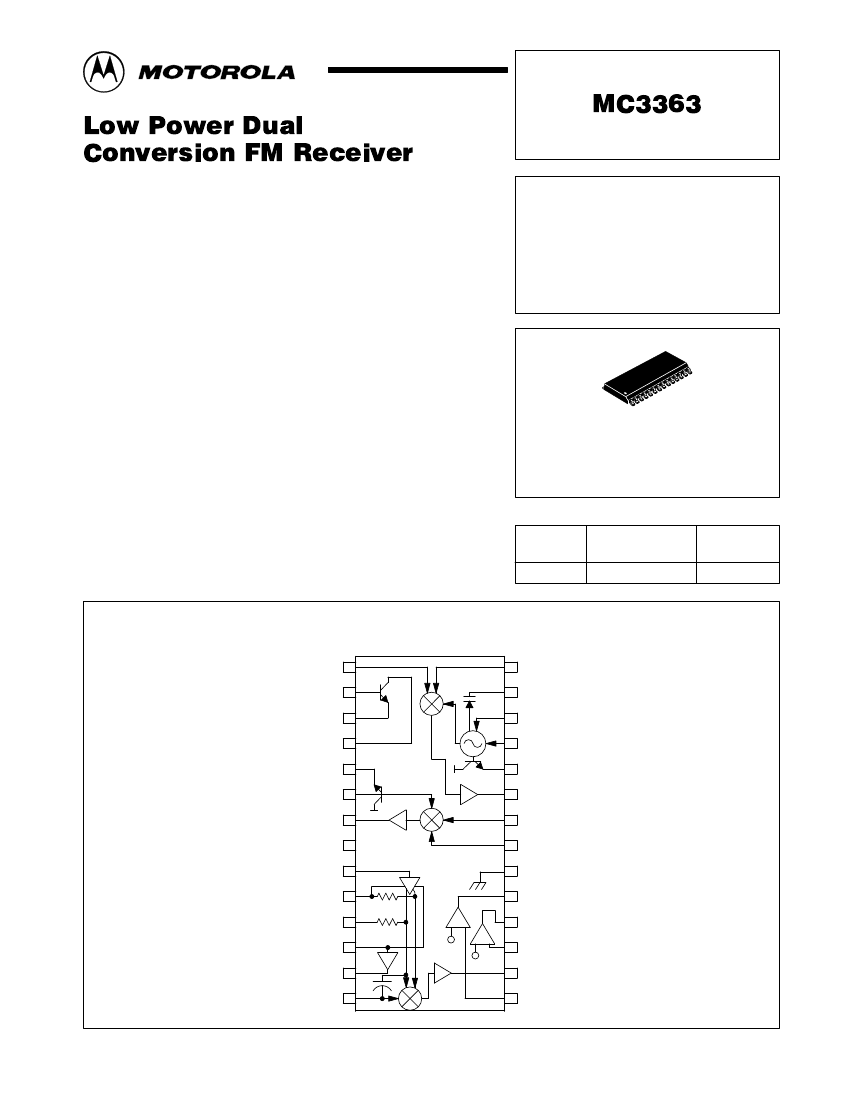 mc3363 <strong>pdf</strong> datasheet浏览和下载