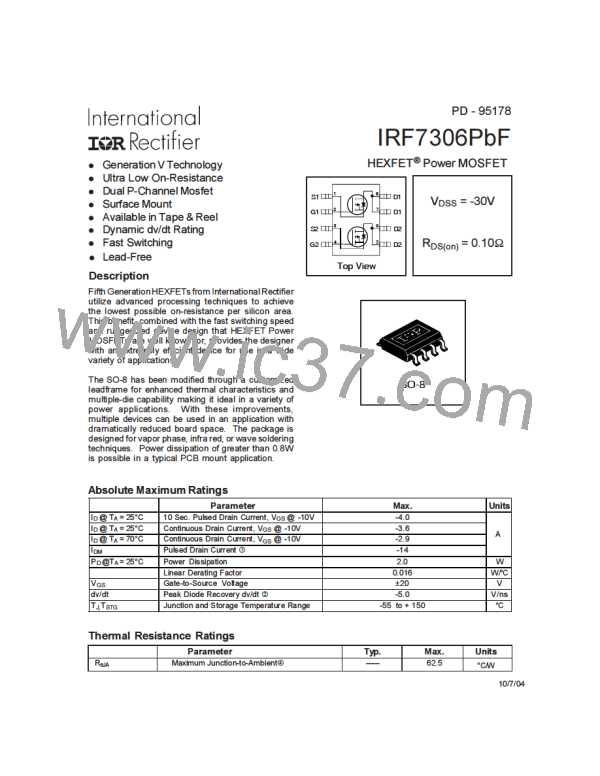 IRF7306PBF