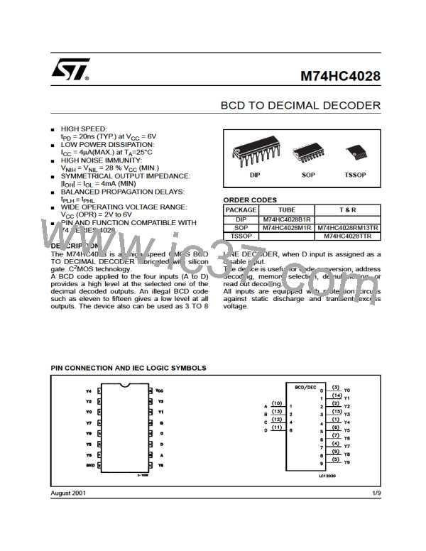 M74HC4028B1R图片预览