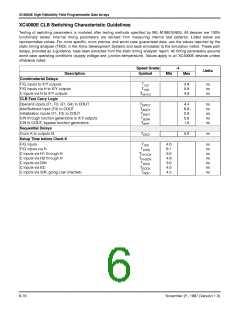 浏览型号XC4005E-1PC84I的Datasheet PDF文件第6页