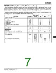 浏览型号XC4005E-1PC84I的Datasheet PDF文件第7页