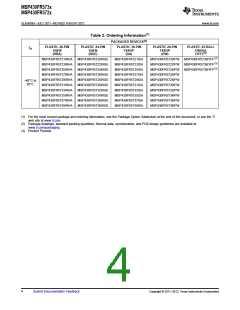 浏览型号MSP430FR5732IRGER的Datasheet PDF文件第4页