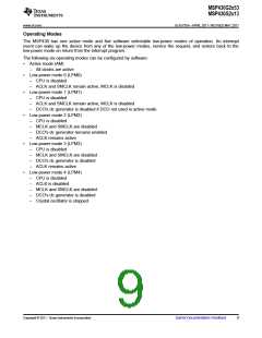 浏览型号MSP430G2513IN20的Datasheet PDF文件第9页