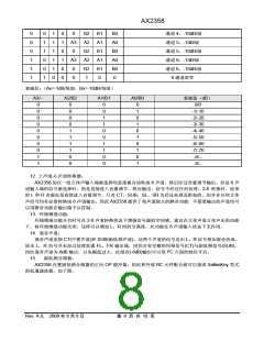 浏览型号AX2358的Datasheet PDF文件第8页